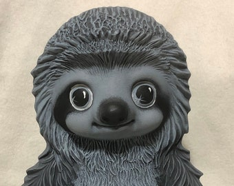 Ceramic Dry Brushed Loki the Sloth using Mayco Softee Stains