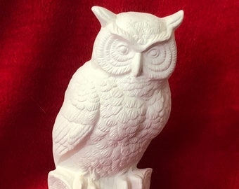 Owl in ceramic bisque ready to paint