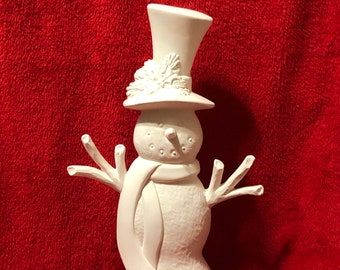 Ceramic Slim Snowman Bisque ready to paint