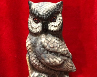 Dry Brushed Ceramic Owl using Mayco Softee Stains
