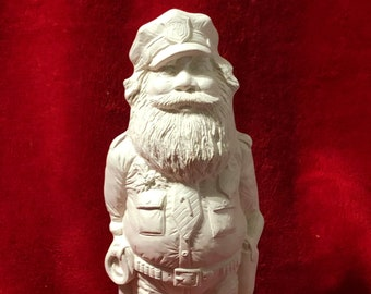 Ceramic Policeman Santa Bisque ready to paint