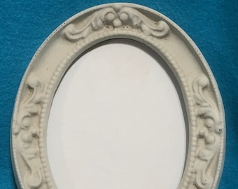 Decorative Vintage Ceramic Picture Frame with ceramic back ready to paint