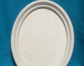 Vintage Modern Ceramic Picture Frame with ceramic back ready to paint