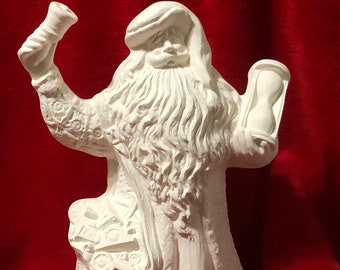 Father Time Santa ceramic bisque ready to paint