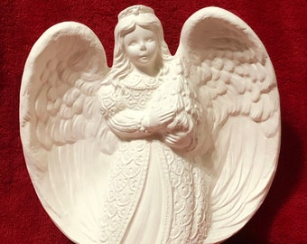 Christmas Angel in ceramic bisque ready to paint