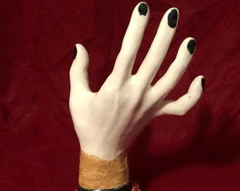 Glazed Ceramic Ring Hand