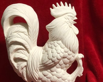 Ceramic Rooster Bisque ready to paint