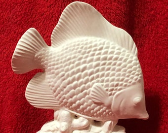 Angel Fish in ceramic bisque ready to paint