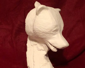 Driftwood Bear Ceramic Bisque ready to paint