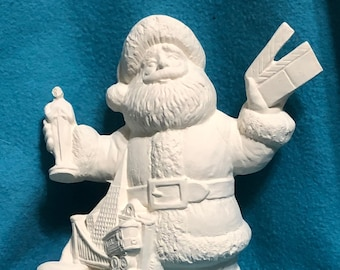 Hollywood Santa Ceramic Bisque ready to paint