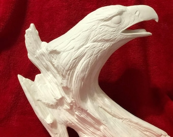 Driftwood Eagle in ceramic bisque ready to paint
