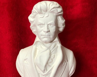 Bust of Ludwig Van Beethoven in ceramic bisque ready to paint