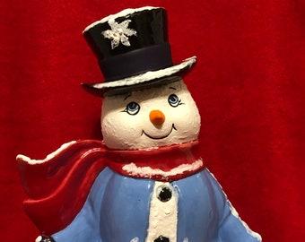 Glazed Ceramic Snowman