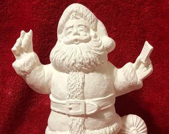 Bingo Santa ceramic bisque ready to paint
