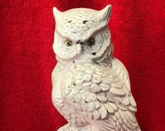 Glazed Ceramic Hoot Owl