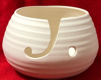 Ceramic Vintage Yarn Bowl in bisque ready to paint