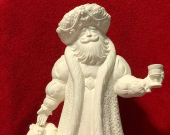 Old English Gare Santa Claus in Ceramic Bisque ready to paint