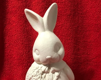 Clay Magics Male Easter Bunny in ceramic bisque ready to paint