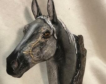 Gray Driftwood Horse