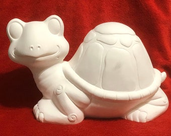 Ceramic Turtle in bisque ready to paint
