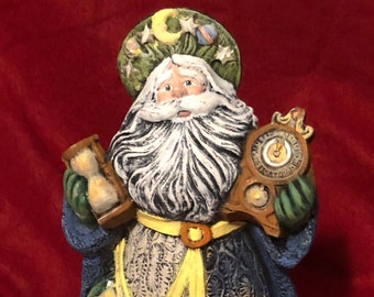 Dry Brushed Ceramic Father Time using Mayco Softee Stains