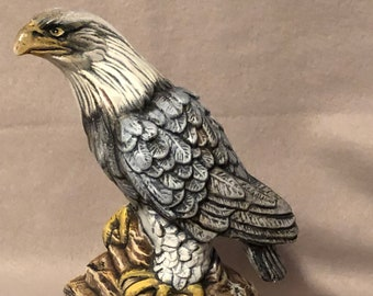 Dry Brushed Ceramic Eagle using Mayco Softee Stains