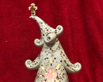 Glazed Ceramic Easter Jolly Tree