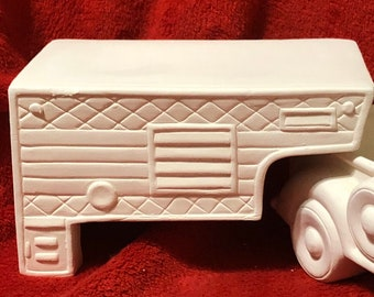 Camper Top that fits the Classic Pickup in ceramic bisque ready to paint