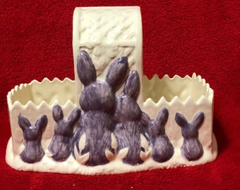 Milk Glazed with Purple Bunnies Basket