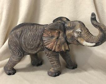 Dry Brushed Ceramic Elephant using Mayco Softee Stains