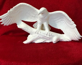 Ceramic Landing Eagle in bisque ready to paint