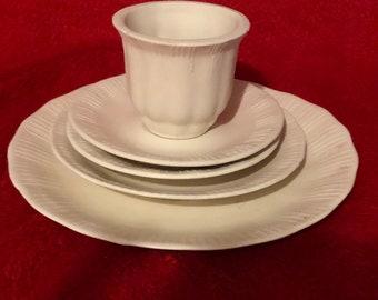 Rare Vintage 5 piece Tea Set in ceramic bisque ready to paint