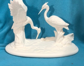 Heron Wading Ceramic Bisque ready to paint