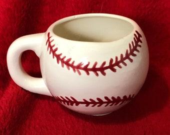 Ceramic Glazed Baseball Coffee Cup