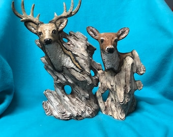 Whitewash Driftwood Deer