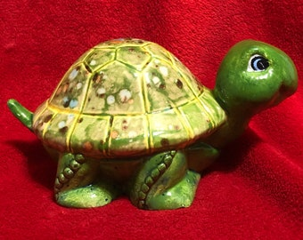 One of a kind glazed Ceramic Turtle