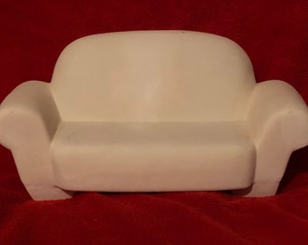 Very Rare Ceramic Couch in bisque ready to paint