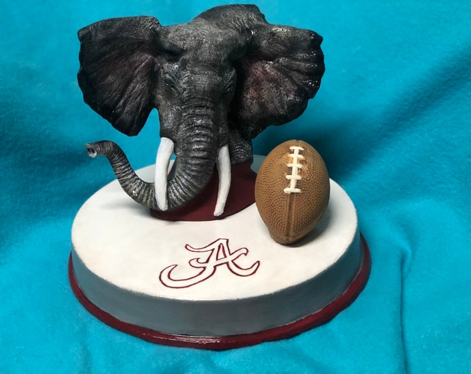 Roll Tide Ceramic Art one of a kind painting