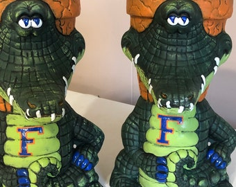 Set of 2 Florida Gator Waddle Pots