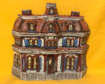 Vintage and Rare Byron Molds Haunted House dry brushed using Mayco Softee Stains by jmdceramicsart