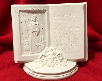 Rare Seasons of Prayer with holes for light in ceramic bisque ready to paint