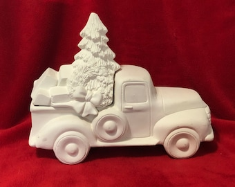 Classic Pickup Truck Box with Tree with Boxes