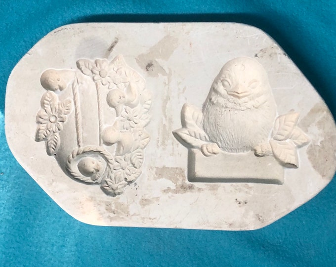Christmas Ornaments Mold for Wreath and Bird by unknown company
