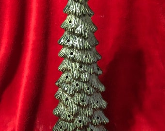 Bluegrass Green Glazed Slim Christmas Tree with holes for lights