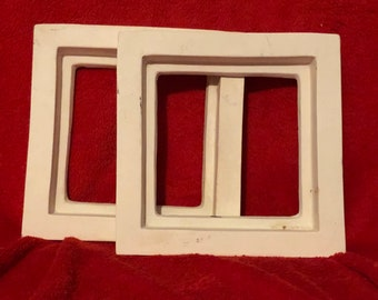 Set of 2 Ceramic Picture Frames in bisque ready to paint