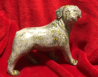 Ceramic Dog glazed with Fireflies