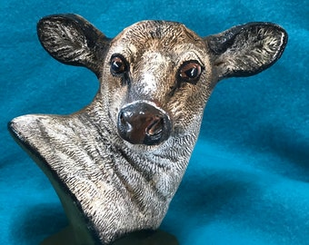 Ceramic Doe Bust