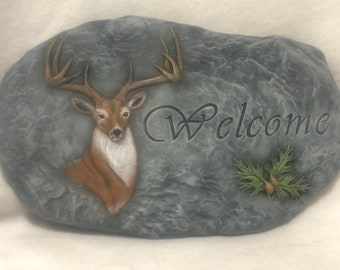 Buck Welcome Wall Hanging