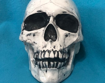 Skull Glazed Ceramic Art