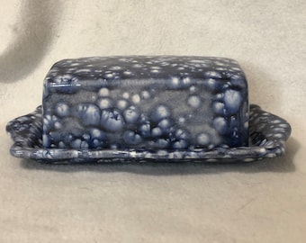 Glazed Ceramic Vintage Butter Dish